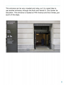 Close up view of the door where visitors can enter at The Metropolitan Museum of Art