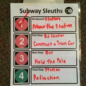 New York Transit Museum Handwritten Schedule