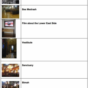 Museum at Eldridge Street Front Page of Visual Schedule