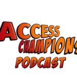 Logo for Access Champions podcast. Click to listen.